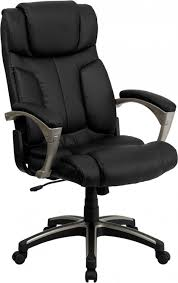 foldable high back black leather executive office chair with lumbar support