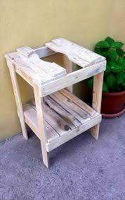 Ice Bucket Table Wood Pallet Ice Bucket Table Pallet Furniture Diy