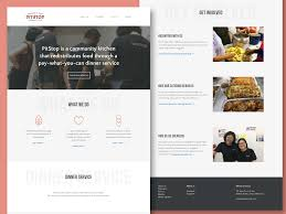 About Us Page Design For Website Community Kitchen Landing Page A Ux Case Study Ux Collective