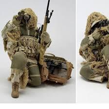 free 1 6 action figure ghillie suit sniper set s figures scale models diy