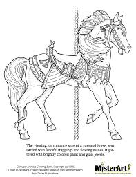 Printable Coloring Pages horse coloring pages to print for free : Colorists and carousel lovers of all ages will delight in Christy ...