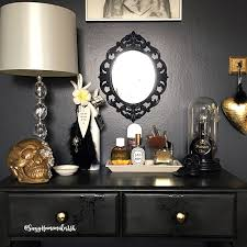 pine bedroom furniture painted with annie sloan graphite and decorated with skull decals the world