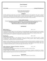 Senior Executive Assistant Resume Full Impressive Administrative