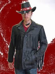 higgs leathers wyatt men s fringed leather cowboy jackets at uk