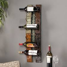 Boston Loft Furnishings Adriano 6-Bottle Multicolored Earth Tones  Wall-Mount Wine Rack