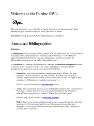 Annotated Bibliography Handout Bibliography Books