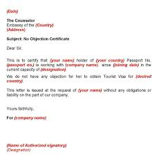 No Objection Letter From Employer For Australian Tourist Visa