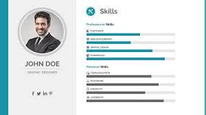 Resume Powerpoint Presentation Self Presentation Resume Format Editable Ppt Slide
