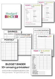 Free Printable Budget Budget Printables From 30 Days Handmade Printable Decor