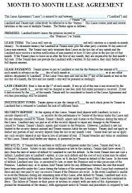 Sample Monthly Lease Free Rental Agreement Form Florida Pdf Template ...