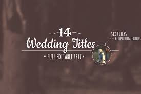 Wedding Title Animated Wedding Titles After Effects Template