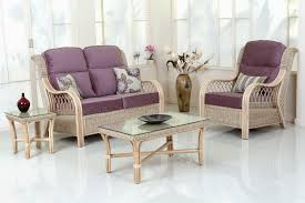 beautiful ashley furniture replacement cushions for in pretty purple cushions cover for natural wicker sofa and armchair set with rectangle glass top table on modern white concrete flooring
