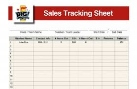 Fundraiser Tracking Spreadsheet The Fundraiser Sales Tracking Sheet Big Fundraising Ideas