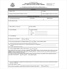 21+ Employment Application Templates - Pdf, Doc | Free & Premium ...