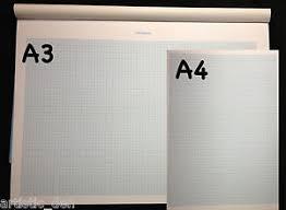 Details About Graph Paper Pad 1mm Grid 25 Sheets A3 Graph Or A4 Graph Pad Grid Pad Maths Pad