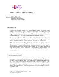 should we boycott child labour pdf available