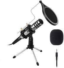 EIVOTOR Aufnahme Mikrofon für Handy und PC 3,5mm Klinke Desktop Kondensator  Mikrofone mit Ständer Plug & Play Computer Microphone für Musik,  Smartphone, Laptop, Singen, Podcast, Recording, YouTube: Amazon.de:  Musikinstrumente & DJ-Equipment