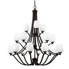 vintner 18 light heritage bronze single tier chandelier shade