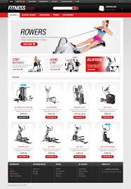Website Template 50700 Fitness Store Athletic Custom