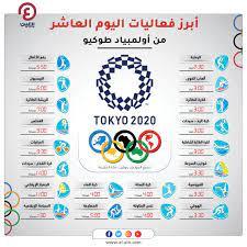 جدول أولمبياد طوكيو.. فعاليات يوم الإثنين 2 أغسطس والقنوات الناقلة