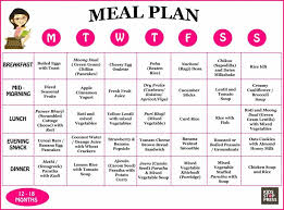 Diet Chart For 12 Year Old Child 3 2019 Printable
