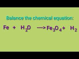 balance the chemical equation fe h2o