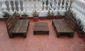 wooden pallet garden furniture. Upcycled Wooden Pallet Terrace Or Garden Furniture