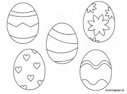 Small Picture Printable Easter Eggs for kids Coloring Page
