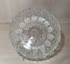 glass dessert plates vintage pressed round glass dessert plate bread plate marked by on glass dessert