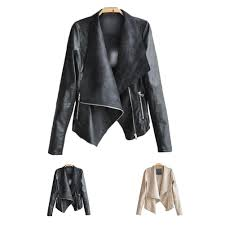 women s pu leather motorcycle jacket lady punk soft thin jacket coat lapels leather jackets women