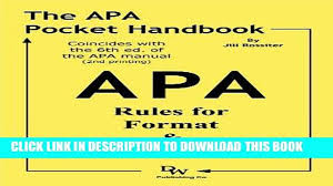 Ebook The Apa Pocket Handbook Rules For Format Documentation