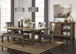 dining room sets with bench intended for ny furniture direct freeport tamilo gray brown rectangular remodel