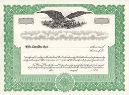 Template For Stock Certificate Stock Certificates Free Shipping