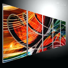 abstract wall art metal wall art abstract modern sculpture painting handmade 5 panels melted gold abstract