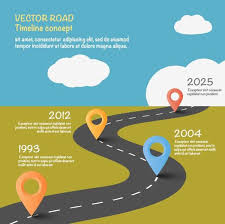 Road Map Infographic Template Vector 03 Free Download