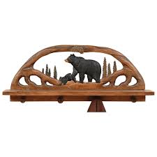 Overstock Coat Rack Black Bear Wood Shelf Coat Rack 78