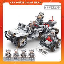 Combo 4 trong 1 Đồ chơi lắp ghép Lego quân đội minifigure