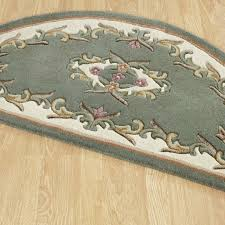 Half Moon Kitchen Rugs Royal Aubusson Half Moon Rugs In Green Cream Free Uk Delivery