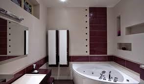 small corner bath design in modern bathroom