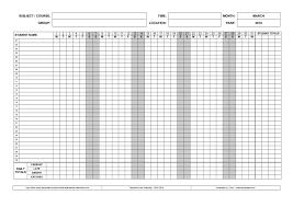 Student Attendance Sheet Tracker Template For Teachers Or