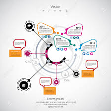 Infographics Templates On A Plain Background