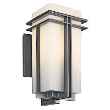 Outdoor Tremillo  Light Wall Light In Black - Kichler exterior lighting