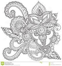 henna designs coloring pages for s mehndi doodles abstract fl design ideas elements paisley mandala vector ilration book 70019423 jpg