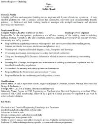 Service Engineer Cv Example Icover Org Uk