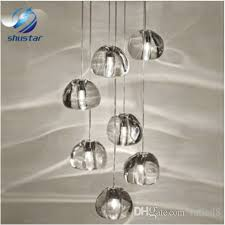 ball chandelier. modern clear crystal glass sphere ball chandelier mizu 3 5 7 15 26 head pendant lamp ceiling round stainless steel base shades small g