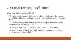 International Conference on Enhancement and Innovation in Higher     Ennis critical thinking assessment