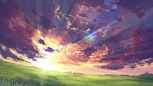 anime landscape nature peace peaceful wallpaper