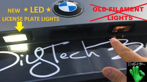Bmw X5 License Plate Light Replacement Bmw E Series License Plate Lights Replacement Led Retrofit Tutorial