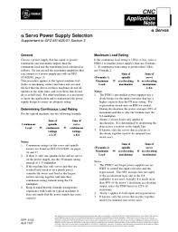 fanuc alpha series svm fssb servo setup manual gfk cnc fanuc alpha servo power supply selection