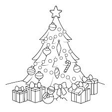 Kleurplaat Kerstboom Met Cadeautjes Kleurplaatjenl